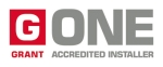 G-One logo with borders
