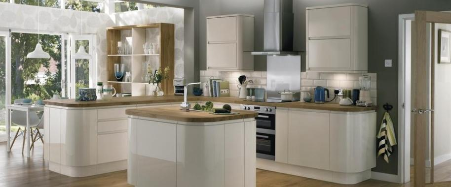 Howdens image Burford Cream Gloss